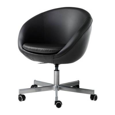 Chaise De Bureau Pivotante Ikea Skruvsta Idhult Noir